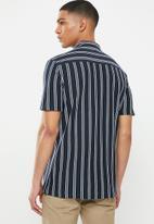 Brave Soul - Monk shirts - navy & white