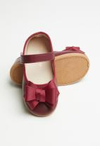 POP CANDY - Girls bow strap pump - red