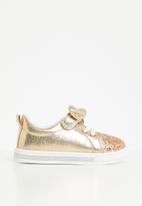 POP CANDY - Girls glitter detail sneaker - gold