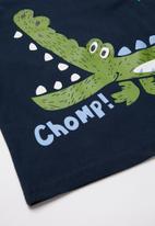 POP CANDY - Boys crocodile tee - navy & green