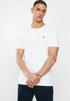 Original Penguin - Embroidered T-shirt - white