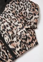 POP CANDY - Girls animal print jacket - black & brown