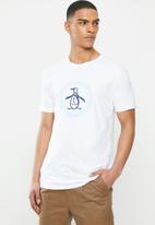Original Penguin - Circle logo T-shirt -  white
