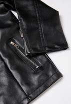 POP CANDY - Girls pu leather jacket - black