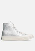 Converse - Chuck Taylor All Star 70's metallic leather hi - silver