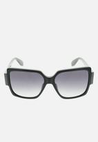 adidas Originals Sun - Adidas  or0005 01b sunglasses - shiny black/gradient smoke