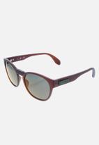 adidas Originals Sun - Adidas  or0014 46q sunglasses - light brown/green mirror