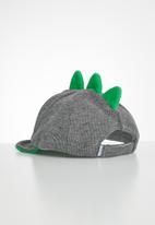 POP CANDY - Corduroy cap - black & green