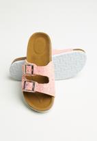 POP CANDY - Girls slip on glitter sandal - pink