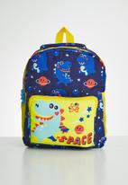 POP CANDY - Dino space backpack - blue & yellow