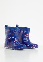 POP CANDY - Boys printed rain boots - blue