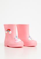 POP CANDY - Girls rainbow boots - pink