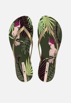 Ipanema - Wave natural fem flip flop - green