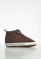 POP CANDY - Baby boys hi-top sneaker - brown