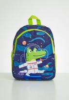 POP CANDY - Boys dino backpack - navy & green