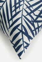 Sixth Floor - Nora cushion cover - blue & white