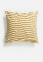 Sixth Floor - Mara cushion cover - mustard & white