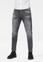 G-Star RAW - Scutar 3d slim tapered stretch denim - vintage basalt