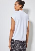 Superbalist - High crew neck grown on sleeve tee - white