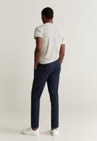 MANGO - Cedar trousers - navy