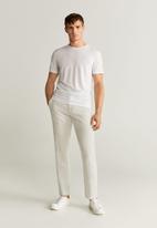 MANGO - Oyster trousers - beige
