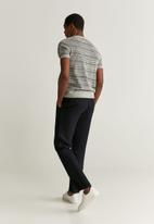 MANGO - Oyster trousers - black