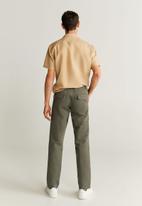 MANGO - Busia trousers - green