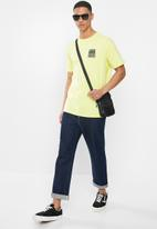 Billabong  - Checked out ss tee - neo yellow