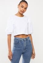 MILLA - Puff sleeve top - white