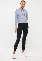 Nike - Yoga jersey crop hoodie - blue