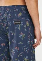 Quiksilver - Diamond dobby volley shorts - navy floral