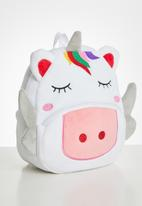 POP CANDY - Unicorn piggy backpack - pink & white