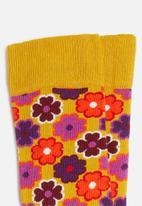 Happy Socks - Flower socks - yellow