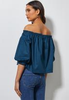 Superbalist - Off the shoulder blouse - blue