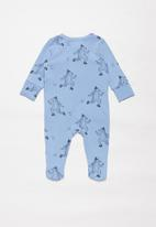 Cotton On - The long sleeve zip romper - blue & black