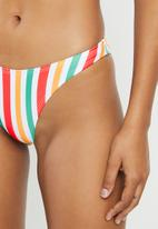 Missguided - Stripe boomerang bikini bottoms - multi