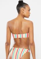 Missguided - Stripe bandeau bikini top - multi