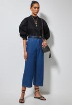 Superbalist - High neck puff sleeve blouse - black