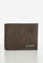 Quiksilver - Stitchy wallet iv - chocolate brown