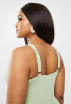 Bacon Bikinis - Ruched one piece - green