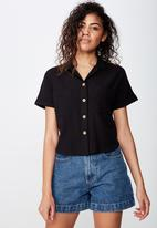 Cotton On - Erin short sleeve shirt - black