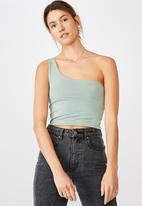 Cotton On - One shoulder sleeveless top - green