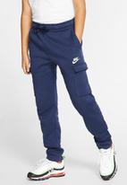 Nike - B nsw club cargo pant - navy & white