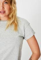 Factorie - Curved hem short sleeve tee - grey