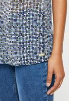 POLO - Milly printed basic short sleeve blouse - multi