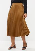edit Plus - Pleated midi skirt - brown