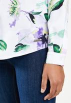 POLO - Seema tie printed long sleeve shirt - pink