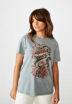 Factorie - Relaxed graphic T-shirt - washed grey