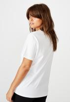 Factorie - Relaxed graphic T-shirt - white
