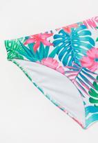 Rebel Republic - Tropical floral two piece swimsuit - multi